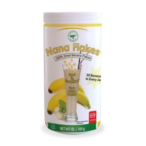 Nana Flakes is a great banana supplement that can aid in occasional diarrhea and heartburn relief. Made from 100% bananas.