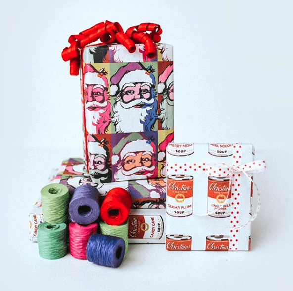 Recyclable gift wrapping from Wrappily