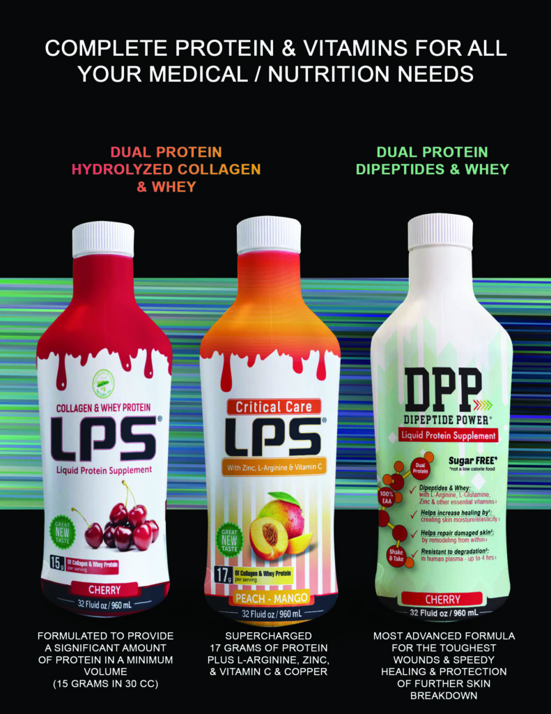 The difference between our collagen LPS Sugar Free, LPS Critical Care and DPP Dipeptide Power liquid protein supplements